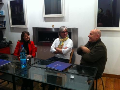 Da sinistra a destra: Anna Mola, Carlo Corradi e Fulvio Bortolozzo