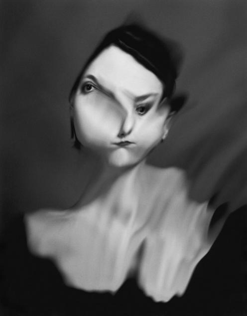 """L. Demaison, """"Eautre n°4 (Pompadour)"""", from series """"Les eautres"""", 1998"""