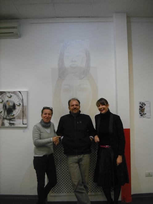Da sinistra: Rita e Andrea di Spazio Porpora e io