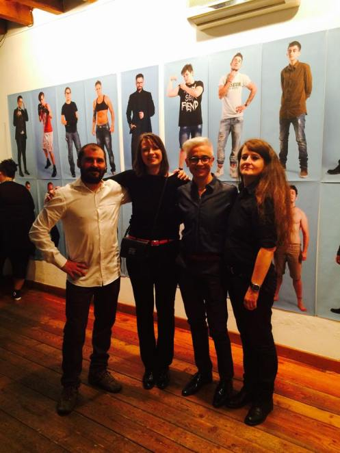 Da sinistra: Matteo dello Spazio RAW, io, Orlando Myxx, Giovanna Frene