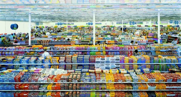 "A. Gursky, ""99 cents"", 1999"