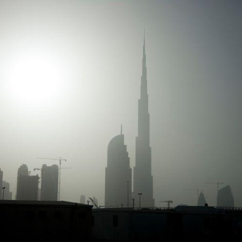 "P. Marlow, ""UNITED ARAB EMIRATES, Dubai. The Armani Hotel Dubai. General views of the Burj Kalifa seen from downtown Dubai City. 2010"""