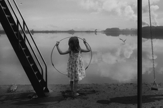 """F. Diaz, D. Young, """"At the waters Edge"""", from """"The Playground Series"""", 2014"""