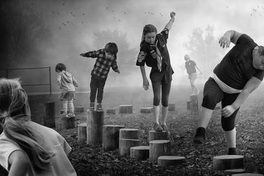"""F. Diaz, D. Young, """"Follow the Leader"""", from """"The Playground Series"""", 2014"""