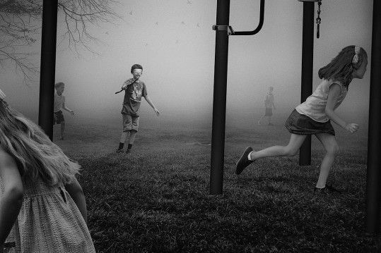 "F. Diaz, D. Young, ""Blind Mans' Bluff, from ""The Playground Series"", 2014"