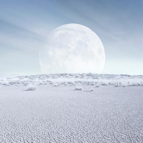 """""""Desert moon, full daylight"""""""