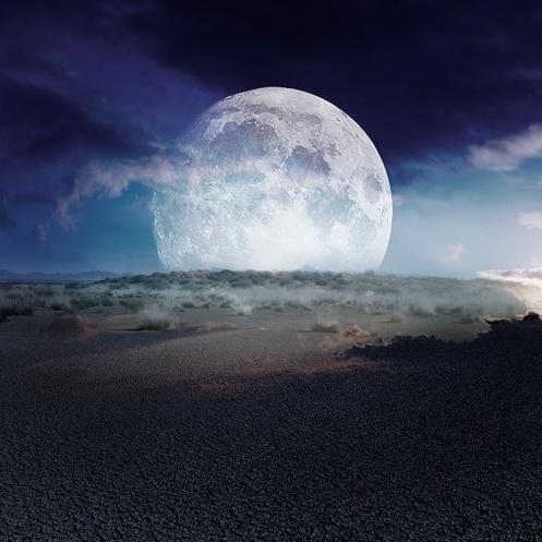 """""""Desert moon, sunset in colour"""""""
