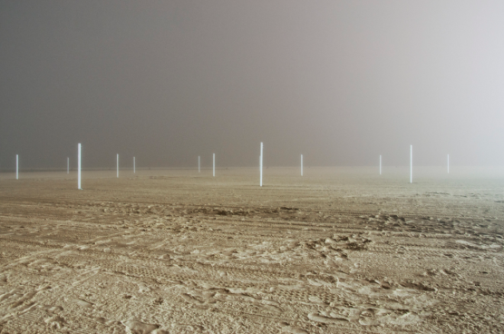 "J. Yeung, ""Taken in 2013, a foggy evening at North Street Beach in Chicago"""