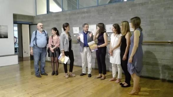 Da sinistra: Paolo Bongianino, Giulia Bacchetta, Marga Nativo (direttrice del Florence Dance Center), Fabrizio Borghini (di Toscana Tv), io, Katerina Machytkova,Magdalena Hohlweg, Elisa Amadei